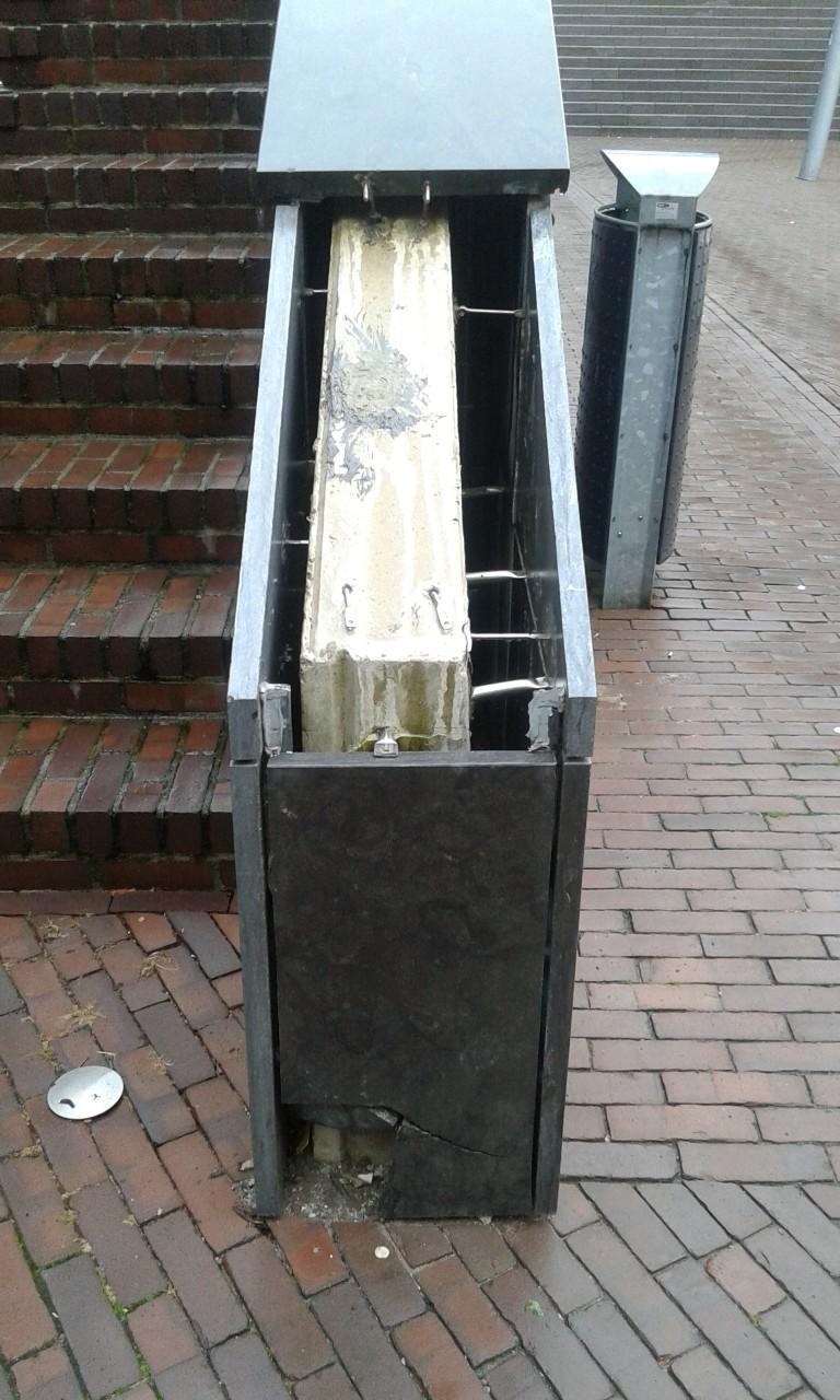 renovatie muurtje centrum Nijmegen